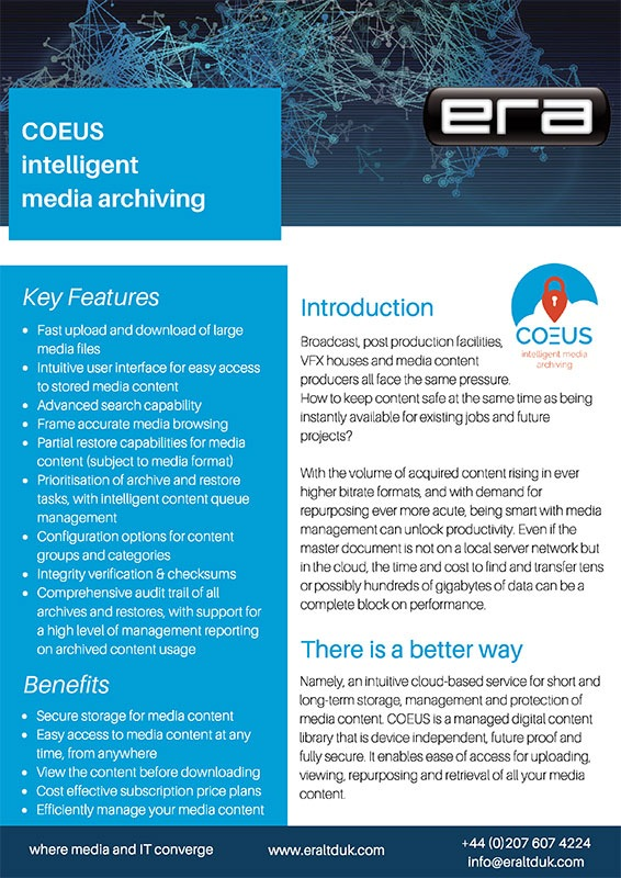 Coeus Intelligent Media Archiving Solutions Paper download